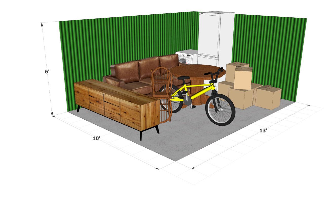 Dorking Self Store 130 sqft Storage Unit